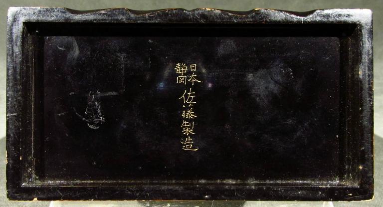 Signed Japanese White Lacquer and Maki-E Lacquer Tansu, Meiji Period For Sale 1