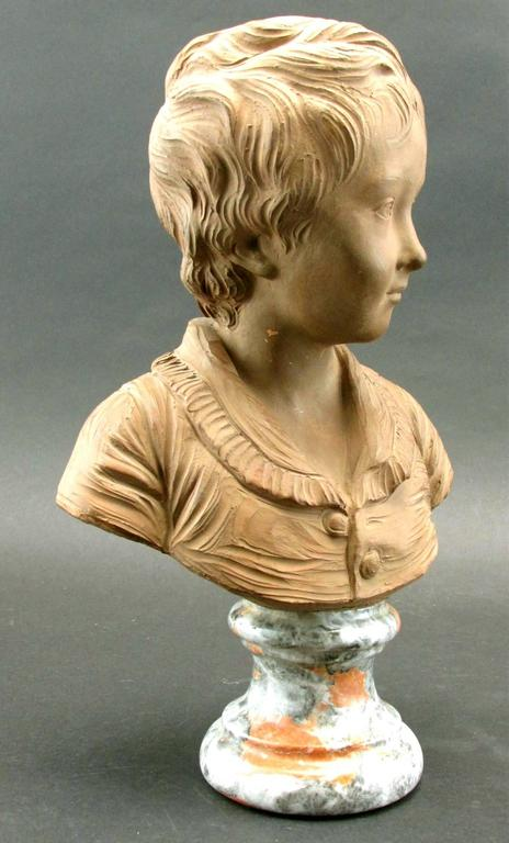 Régence Terracotta Bust of Alexandre Brongniart After Jean-Antoine Houdon, Circa 1870 For Sale