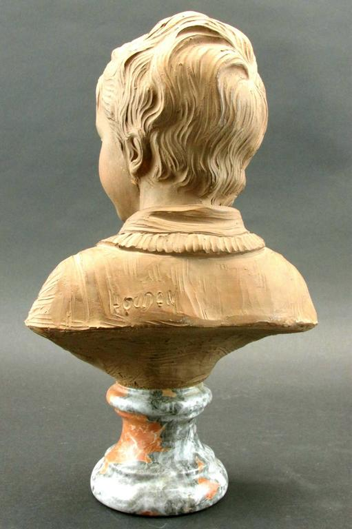 French Terracotta Bust of Alexandre Brongniart After Jean-Antoine Houdon, Circa 1870 For Sale