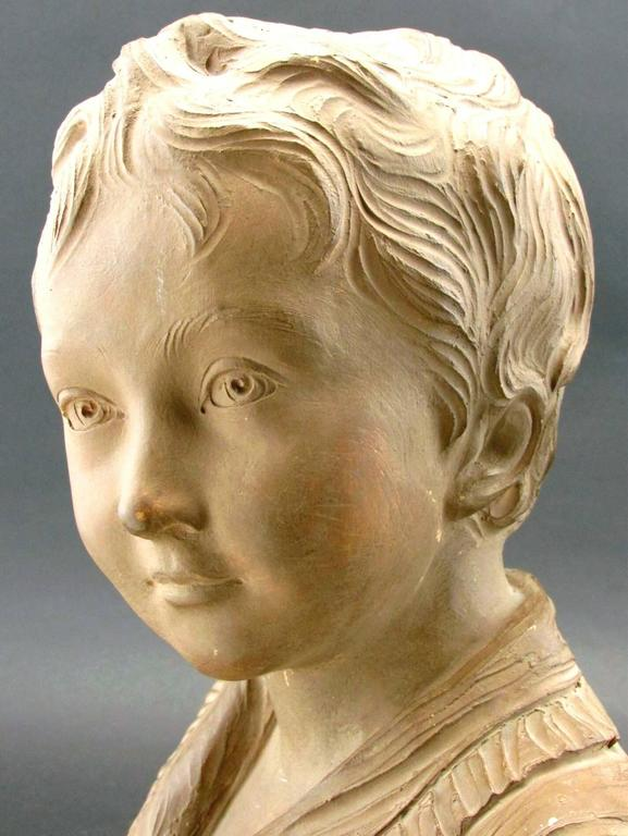 Other Terracotta Bust of Alexandre Brongniart After Jean-Antoine Houdon, Circa 1870 For Sale