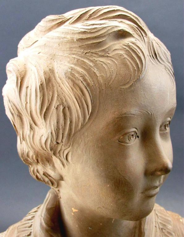 Terracotta Bust of Alexandre Brongniart After Jean-Antoine Houdon, Circa 1870 In Good Condition For Sale In Ottawa, Ontario