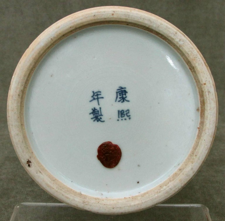 Early 20th Century Chinese Blue And White Porcelain Kangxi Style Hat Stand For Sale At 1stdibs