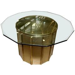 Mastercraft Faceted Brass Dining Table