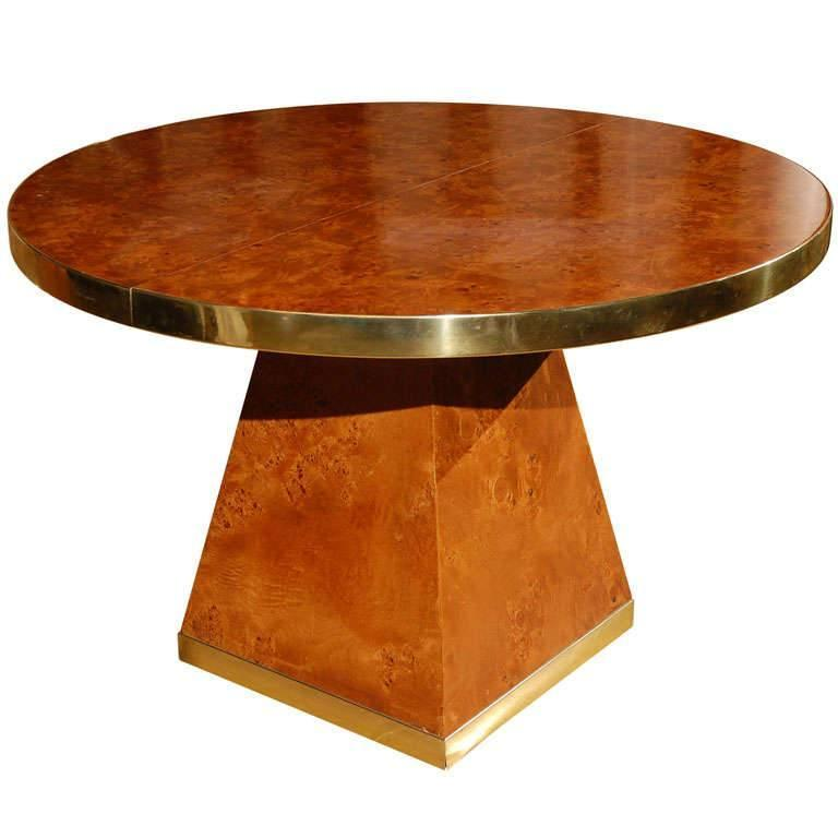 Vintage Burled Cypress Wood Live Edge Side Table At 1stdibs: Burl Wood And Brass Dining Table By Pierre Cardin For Sale
