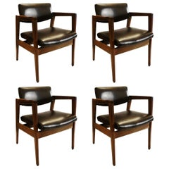 Classic Set of Four Armchairs by W.H. Gunlocke Chair Co.