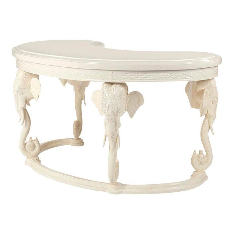 Vintage Fretwork Elephant Desk
