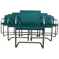 Set of Ten Mies van der Rohe Tubular Brno Chairs by Knoll