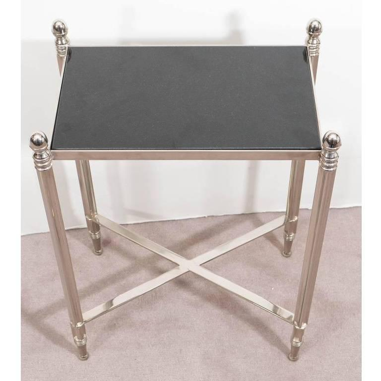 Chrome And Granite Top Side Table 3