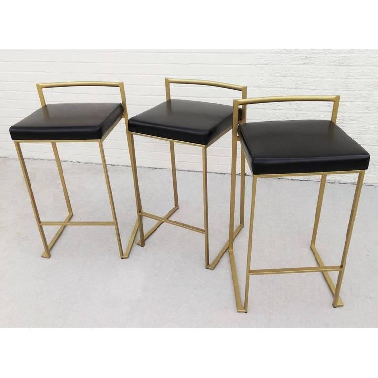 Six Minimalist Modern Bar Stools By Enzo Berti For Sale At