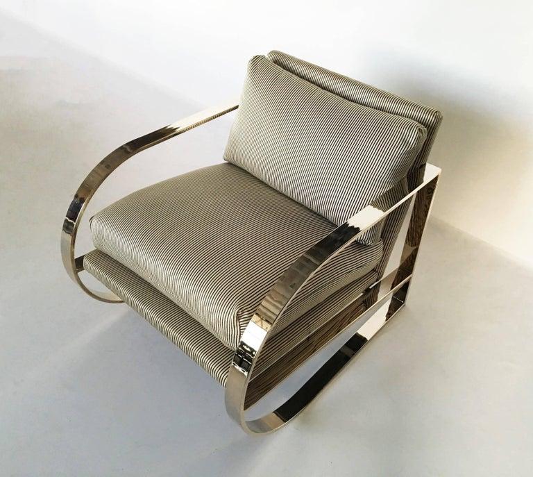 Geometric Form Lounge Chair By John Mascheroni For Swaim