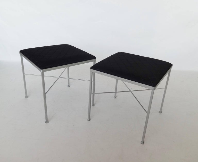 Eight X Base Brass Stools By Thonet For Sale At 1stdibs
