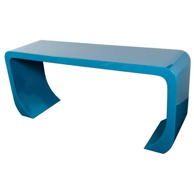 Mid-Century Modern Console Table in the Style of Karl Springer