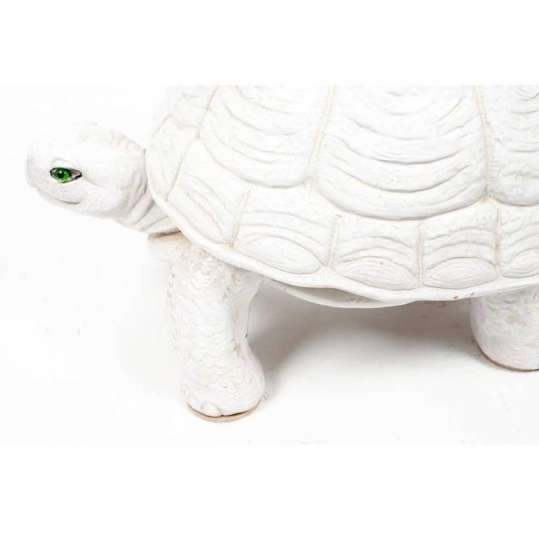 Pair Of 1950s Italian Ceramic Tortoise Garden Seat