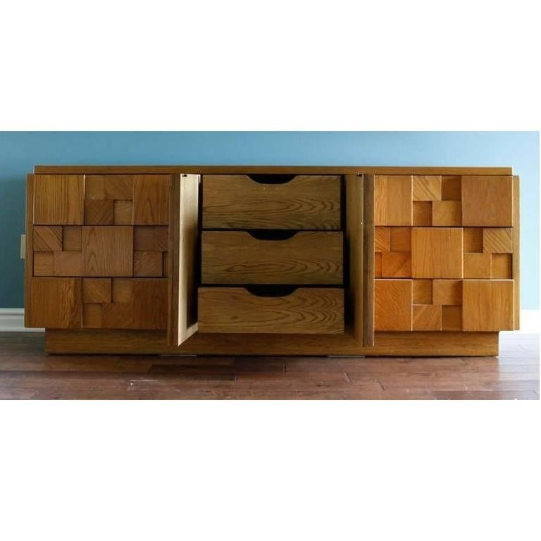 Mid 20th Century Brutalist Credenza By Lane Furniture For