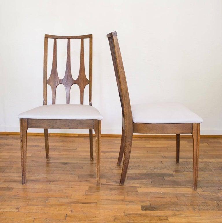 Set of eight mid century modern broyhill brasilia dining for Broyhill american era bedroom furniture