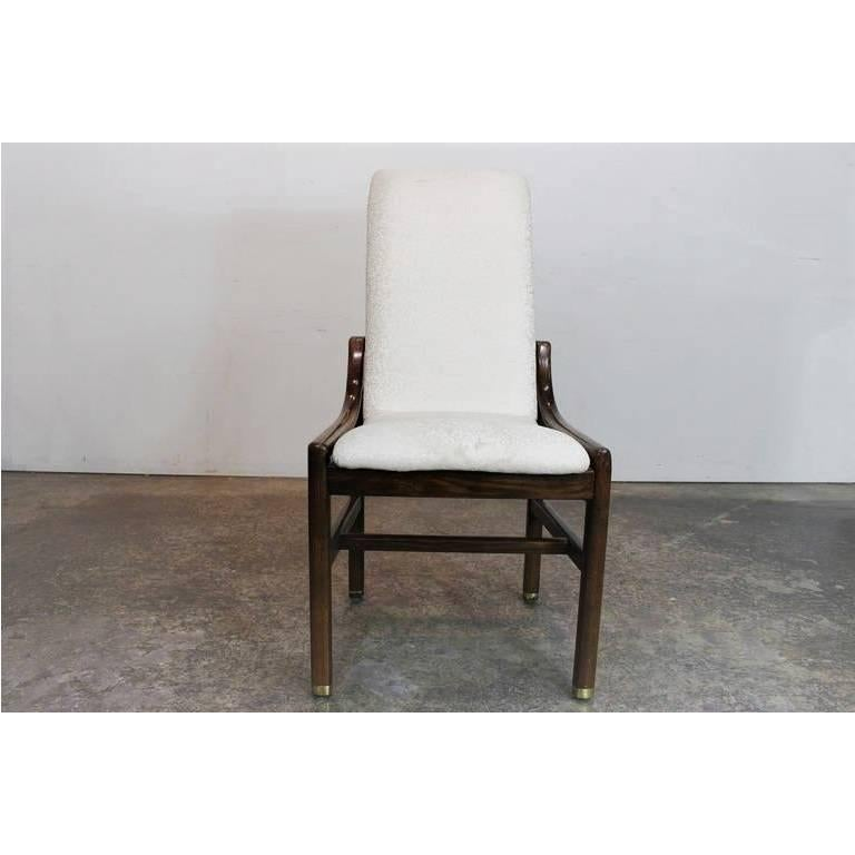 American Great Set Of 16 Vintage Walnut Dining Chairs By Henredon For Sale