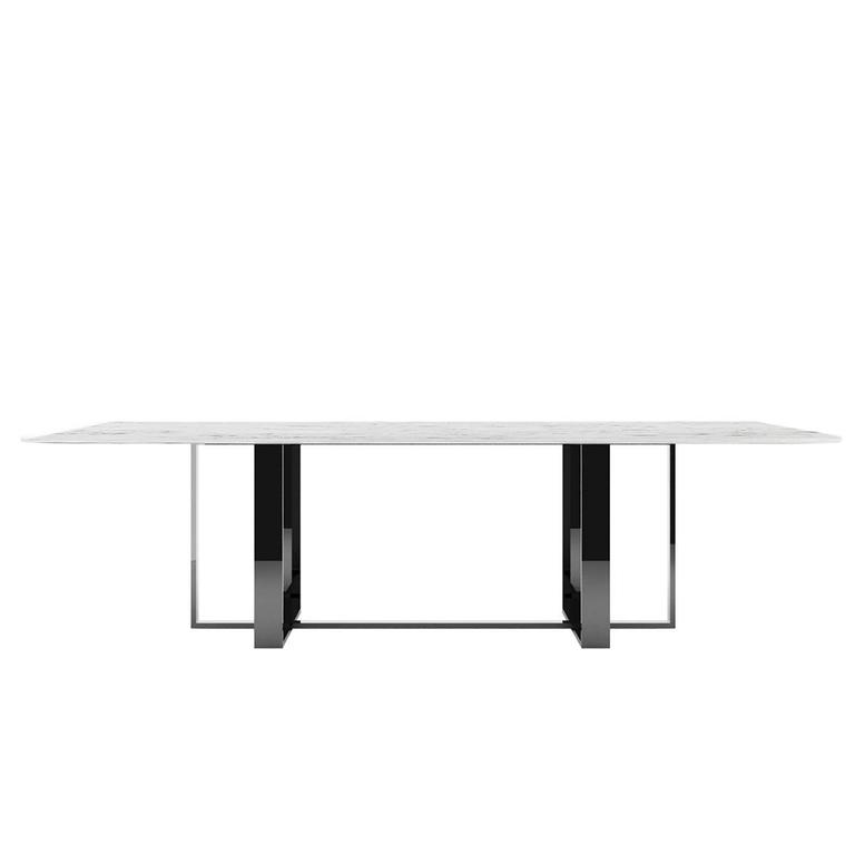 Modern Dining Table Black and White Made in Italy