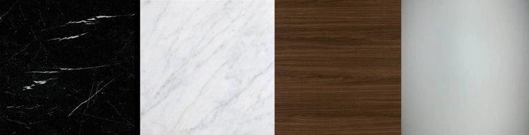 Italian Modern Shelves in Brass Finishing and Walnut Wood For Sale