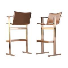 Kolb Bar Chair Modern Bauhaus 21st Century Design Steel or Leather