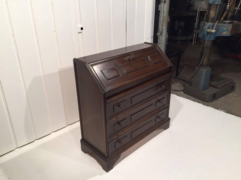 Antique Small Secretary Desk In Wood For Sale At 1stdibs