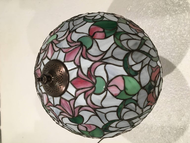 Art Nouveau Artisan Handmade Tiffany Style Lamp For Sale