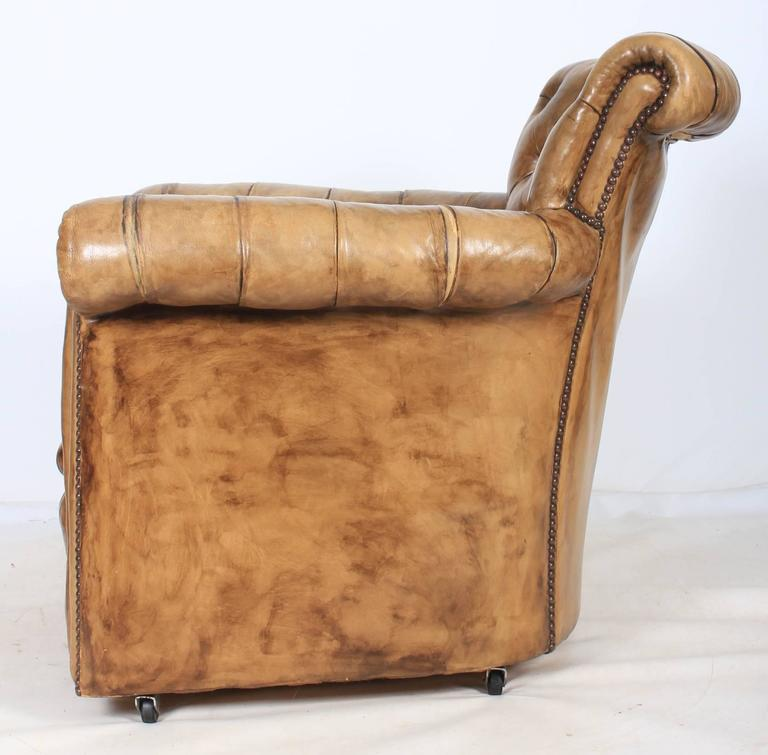 Leather chesterfield style library armchair for sale at for Decor jewelry chesterfield