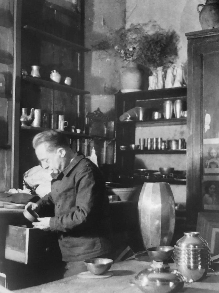 Jean Després, a Rare Tin and Madagascar Ebony Wood Tea-Pot, circa 1930 For Sale 3