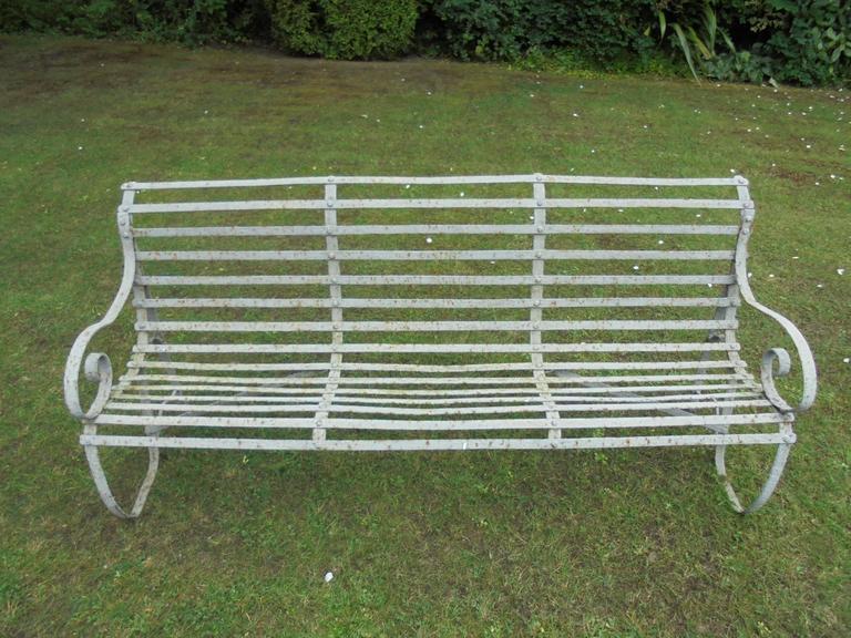Antique English Iron Garden Bench At 1stdibs