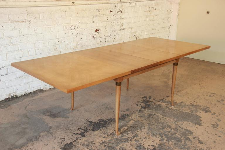 A Beautiful Mid Century Modern Bleached Walnut Extension Dining Table Designed By Merton Gershun For