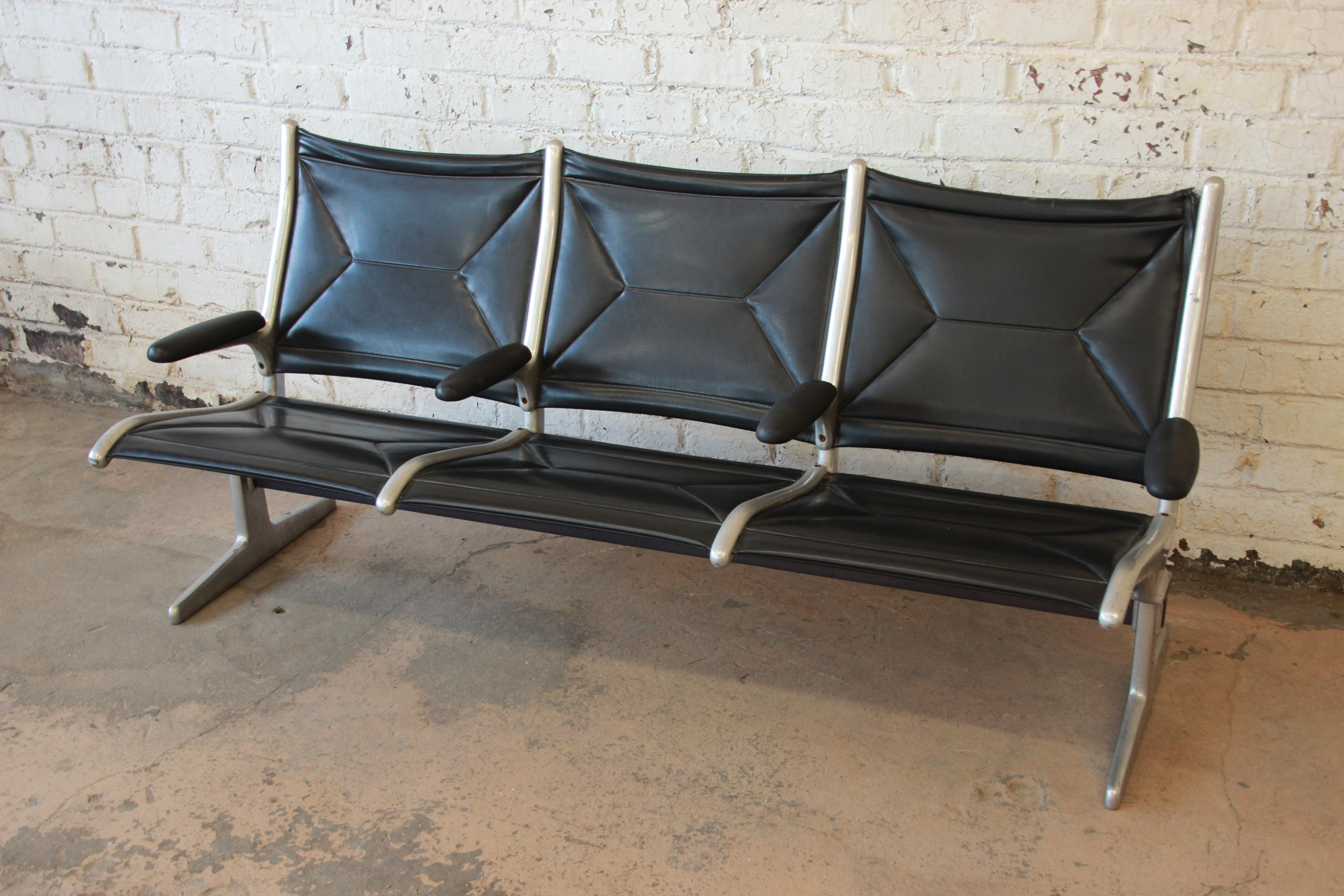 for seating eames sale at benches tandem sling airport bench f org furniture miller herman id