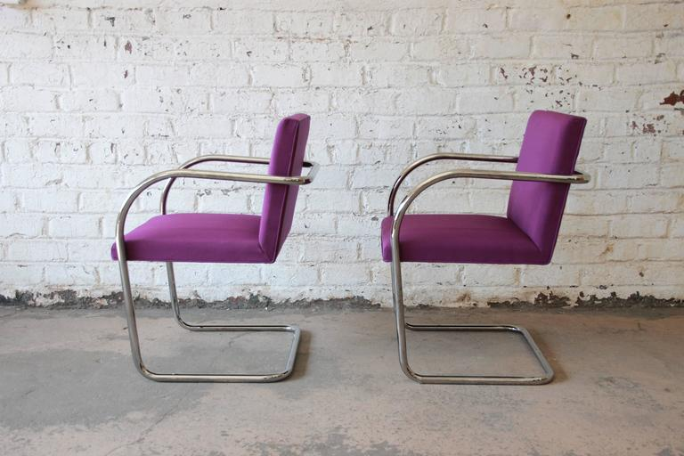Pair of Mies Van Der Rohe Brno Chairs for Knoll International In Good Condition In South Bend, IN