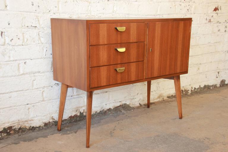 helmut magg for wk m bel mid century walnut credenza at 1stdibs. Black Bedroom Furniture Sets. Home Design Ideas