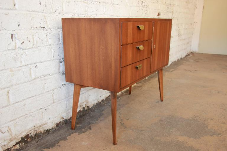 helmut magg for wk m bel mid century walnut credenza at. Black Bedroom Furniture Sets. Home Design Ideas