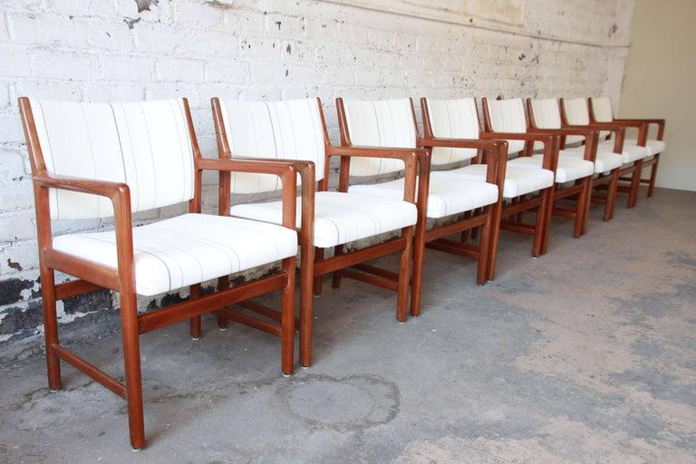 Pair Of Solid Teak Armchairs By Karl Erik Ekselius For J O
