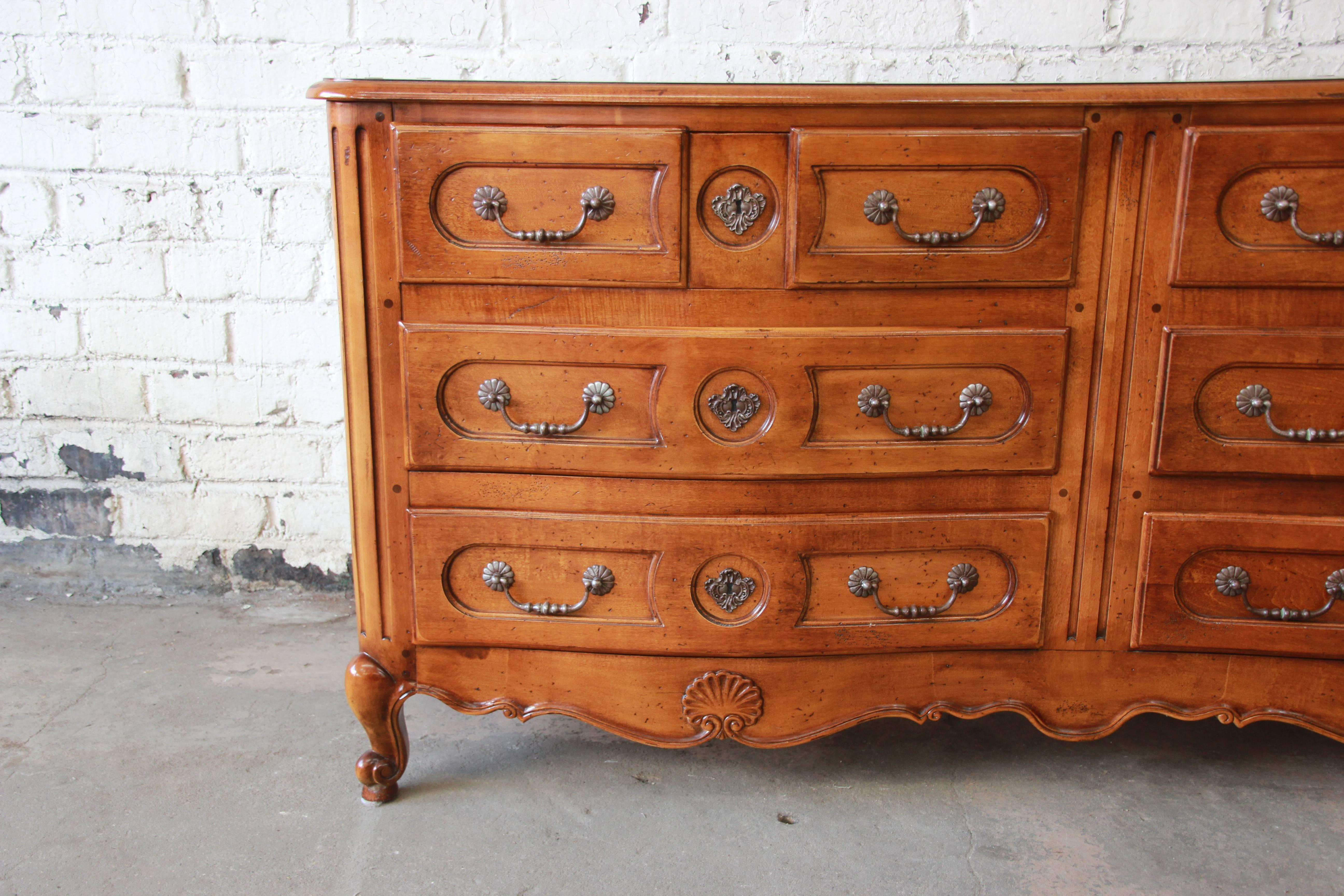 American Pierre Deux French Country Double Dresser By Henredon For Sale