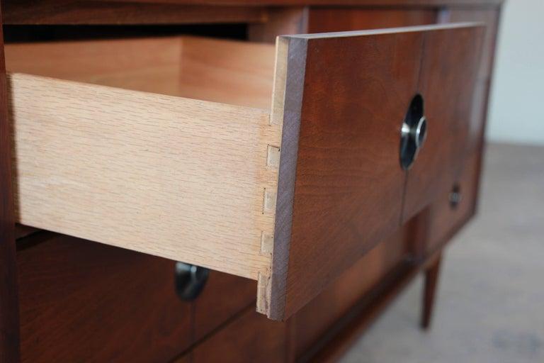 Mid Century Modern Walnut Triple Dresser Or Credenza By Stanley For 4