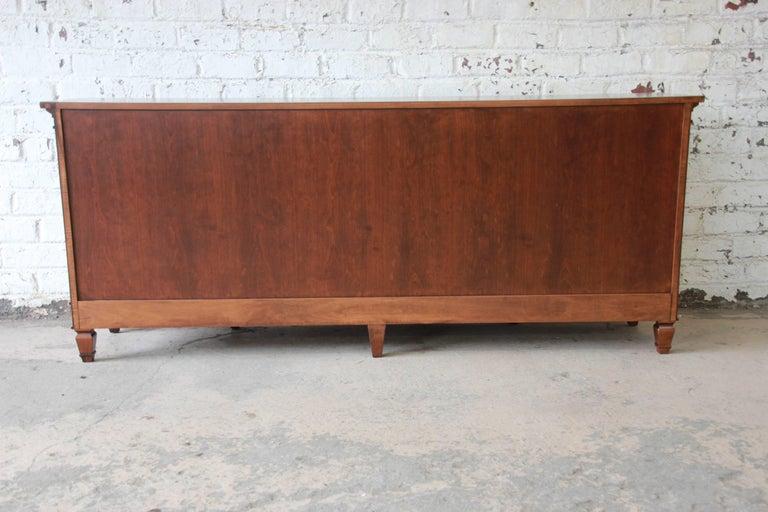 Baker Furniture French Regency Style Cherrywood Triple Dresser For Sale At 1stdibs