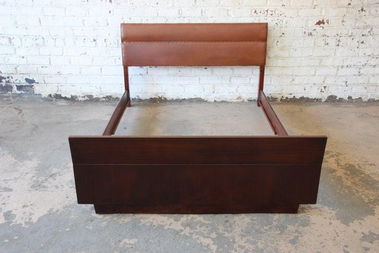 Gilbert rohde for herman miller art deco full size bed frame 1930s