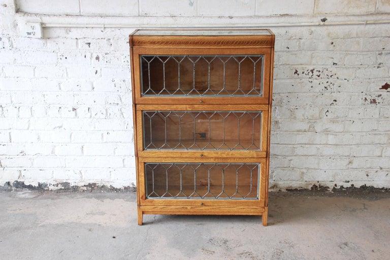 Antique Oak Bookcase With Glass Doors Antique Furniture
