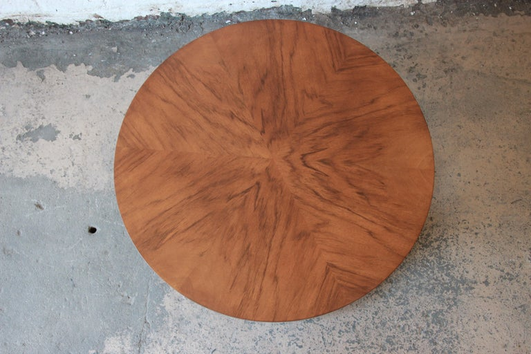 North American Baker Furniture Round Neoclassical Coffee Table For Sale