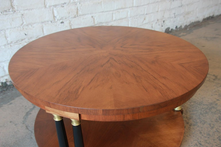 Baker Furniture Round Neoclassical Coffee Table In Good Condition For Sale In South Bend, IN