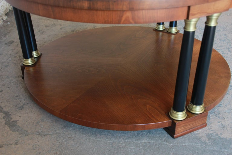 Late 20th Century Baker Furniture Round Neoclassical Coffee Table For Sale