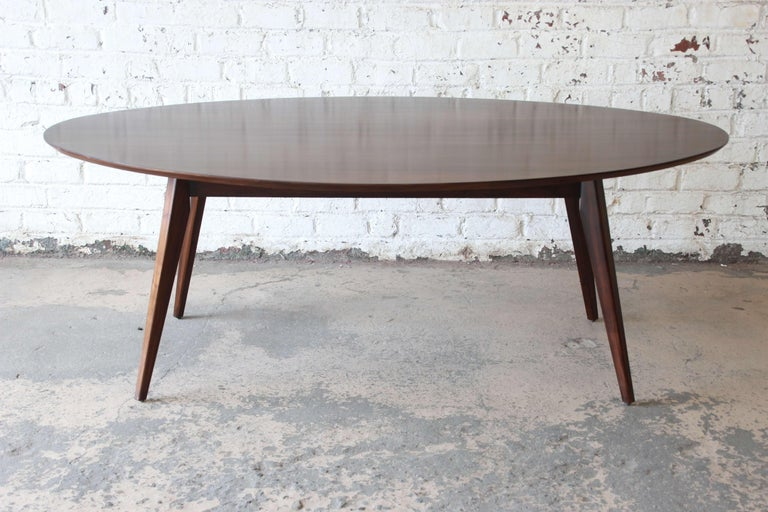 Knoll Walnut Eliptical Dining Or Conference Table For Sale At Stdibs - Elliptical conference table