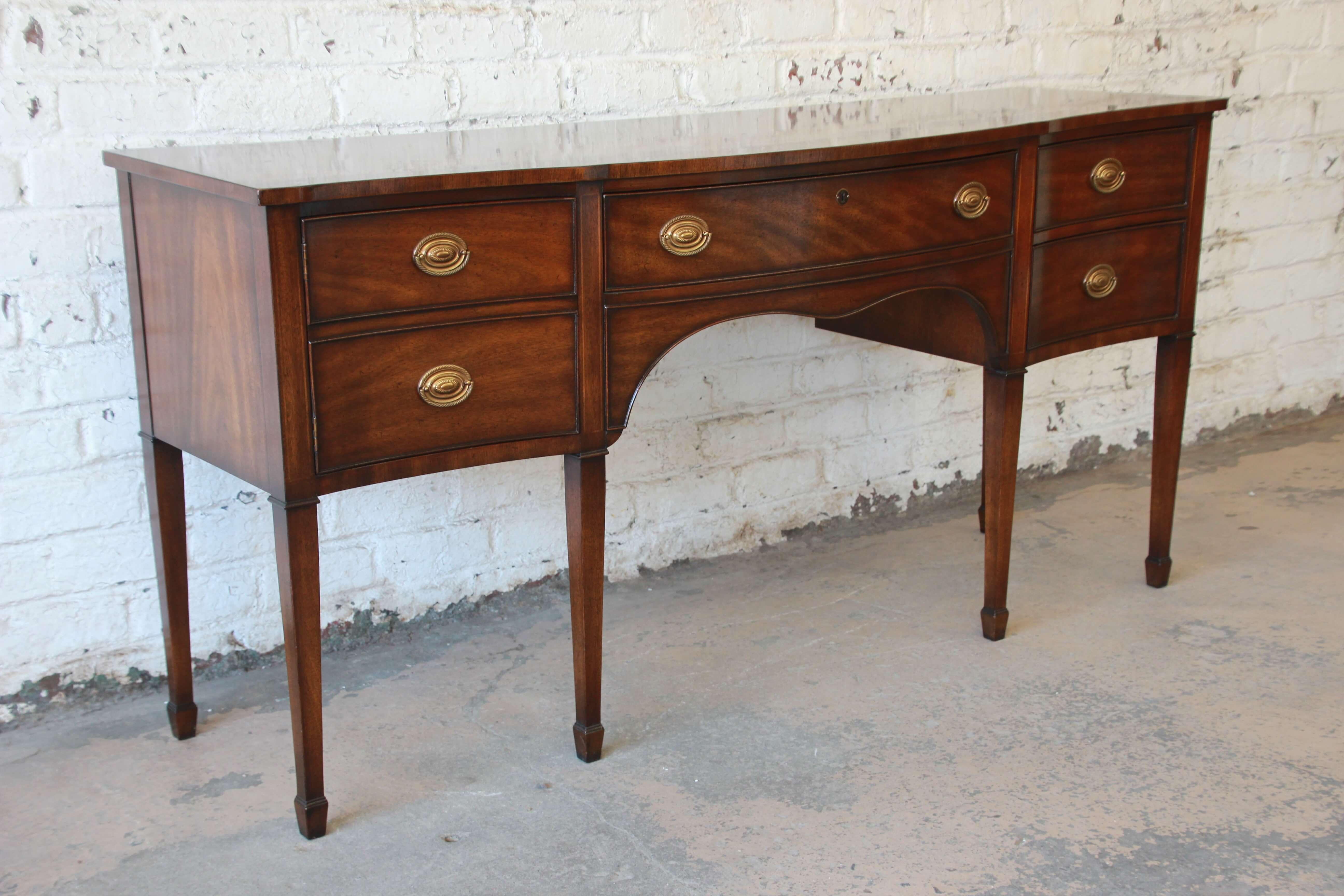 Federal Kindel Furniture Windermere Hepplewhite Style Mahogany Sideboard  Credenza For Sale