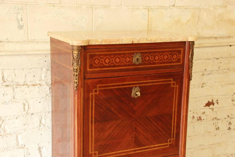 Veneer 19th Century French Louis XVI Style Inlaid Secretaire à Abattant For Sale