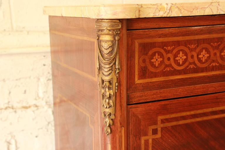 19th Century French Louis XVI Style Inlaid Secretaire à Abattant In Good Condition For Sale In South Bend, IN