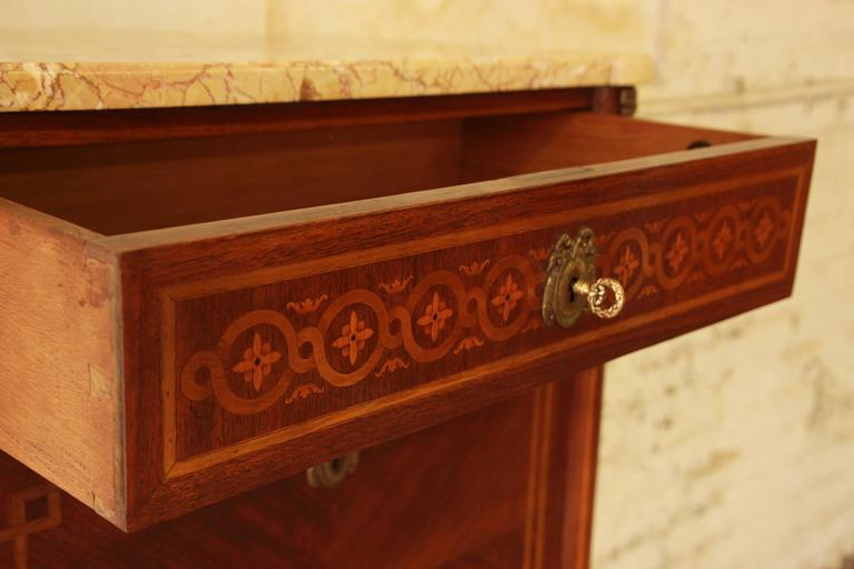 19th Century French Louis XVI Style Inlaid Secretaire à Abattant For Sale 2