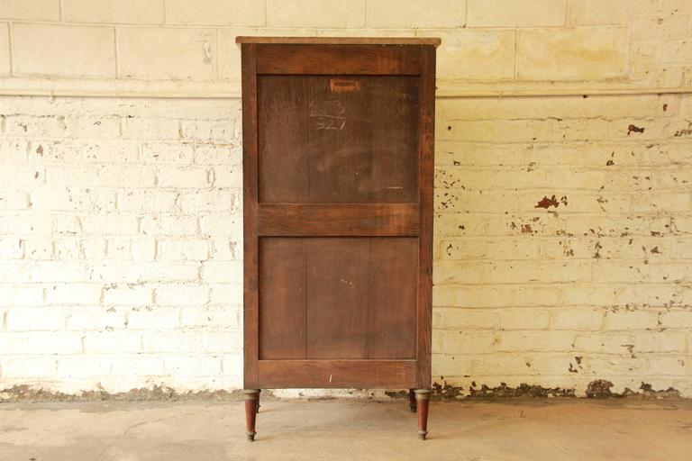 19th Century French Louis XVI Style Inlaid Secretaire à Abattant For Sale 4