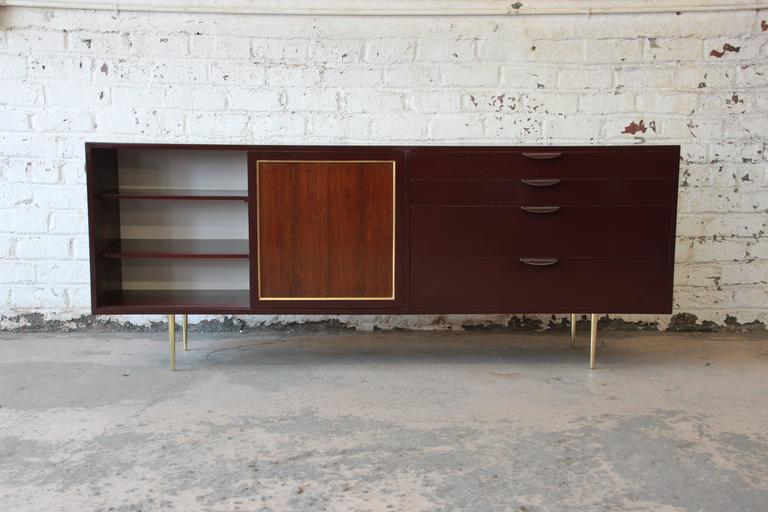 Rosewood Harvey Probber Mid-Century Modern Credenza or Dresser For Sale