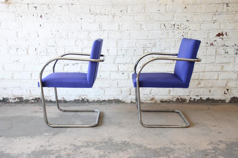 Mid-Century Modern Pair of Mies van der Rohe Brno Chairs for Knoll International